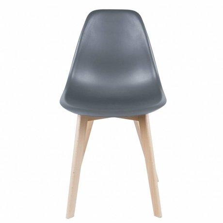 Leitmotiv Salle à bois chaise plastique gris primaire 80x48x38cm