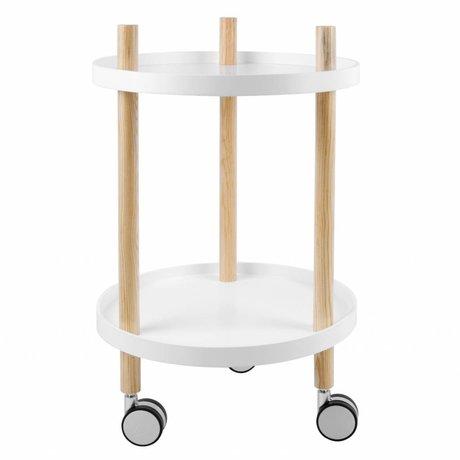 Leitmotiv Keukentrolley wit hout Ø40x63cm