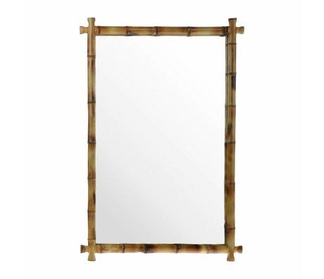 HK-living Spiegel bamboe 80x55x3cm