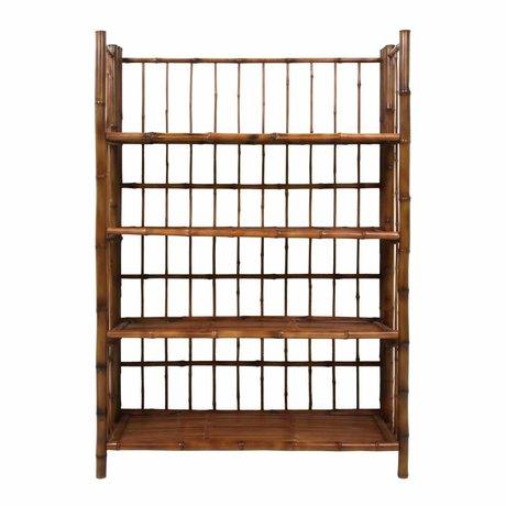 HK-living Porte repliable en bambou brun 80x25x105cm