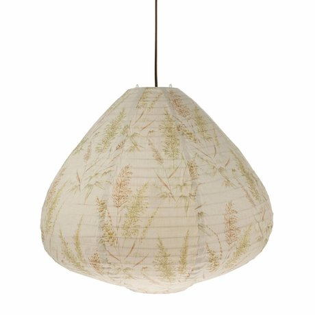 HK-living Lampion Reed Vintage multicolour cotton 65x65x53cm
