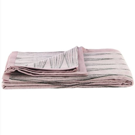 Housedoctor Plaid Graphic nude roze katoen 140x200cm