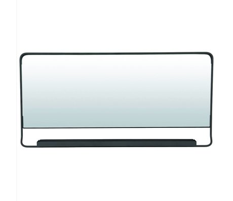 Housedoctor Chiq mirror with shelf black metal 80x40cm