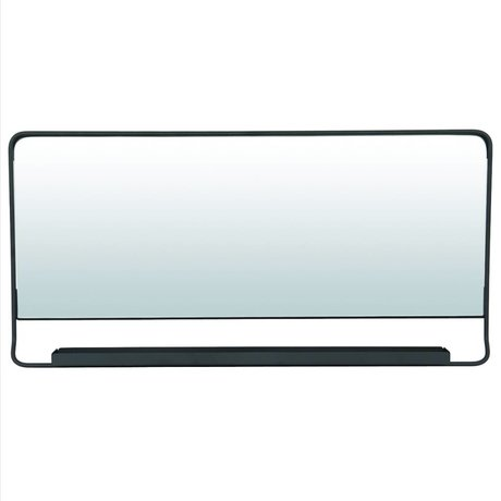 Housedoctor Chiq mirror with shelf black metal 80x40cm