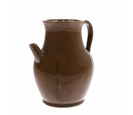 HK-living Can S brown ceramic 17x17x19cm