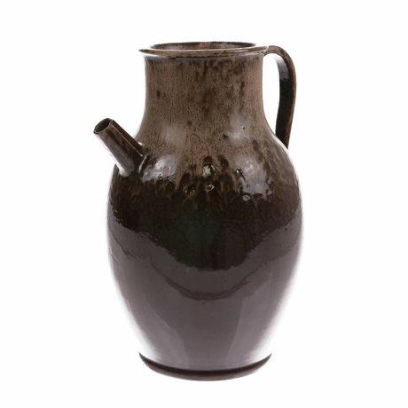 HK-living Can L brun en céramique 20x20x31cm