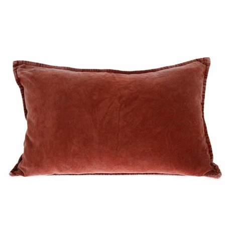 HK-living Cushion velvet terracotta velvet 40x60cm