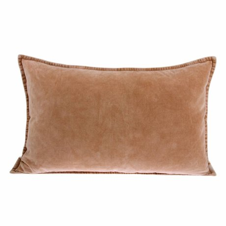 HK-living Cushion Velours nude pink velvet 40x60cm