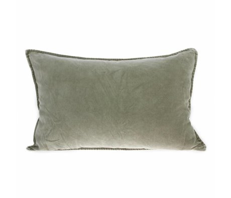 HK-living Cushion Velor green velvet 40x60cm