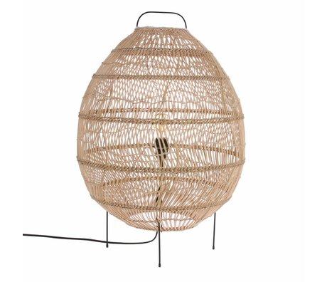 HK-living Lampadaire ovale tissé à la main 50x50x72cm de canne beige