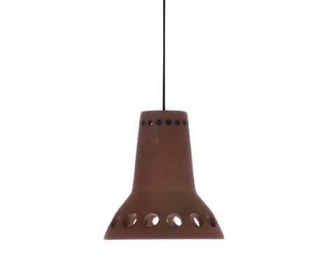 HK-living Lampe suspendue numéro 1 en terre cuite 14x14x14,5cm