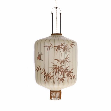 HK-living Lantern L cream cotton 42x42x52 / 92cm