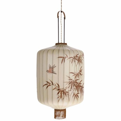 HK-living Lantern XL cream cotton 45x45x62 / 92cm