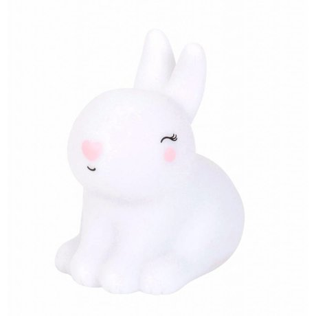 A Little Lovely Company Table lamp rabbit Bunny white pink 8x13x13cm