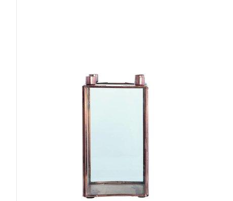 Housedoctor Bougeoir cube métallique SQUARE cuivré 10x10x18cm