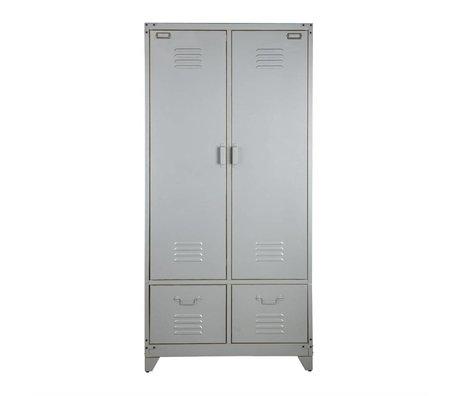 vtwonen Armoire de casier 190x90x50cm en métal argenté