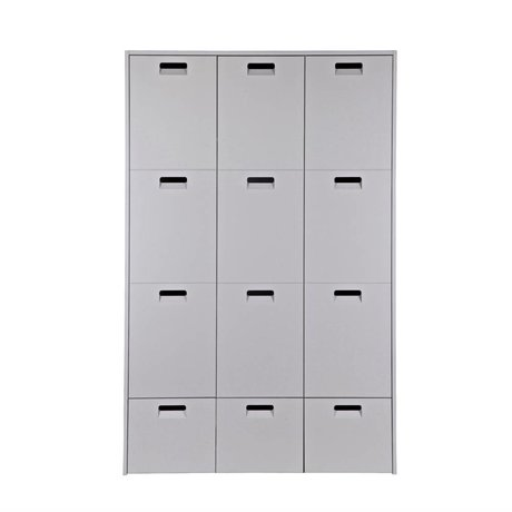 vtwonen Cabinet magasin 185x119x56cm pin gris
