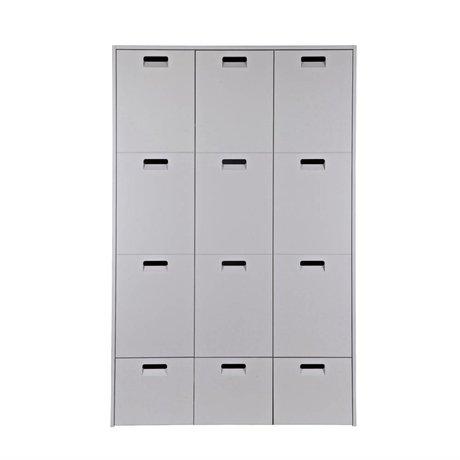 vtwonen Closet Store light gray pine 185x119x56cm