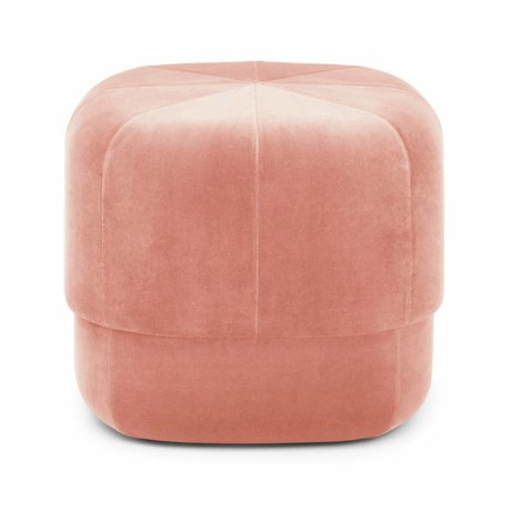 Normann Copenhagen Powder Circus pink velours small 40x46x46cm