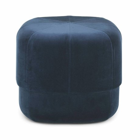 Normann Copenhagen Poef Circus donker blauw velours small 40x46x46