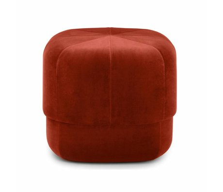 Normann Copenhagen Poef Circus roest velours small 40x46x46cm