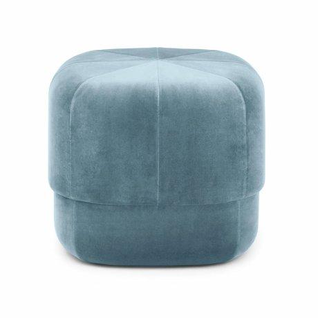 Normann Copenhagen Poof cirque velours bleu clair petit 40x46x46