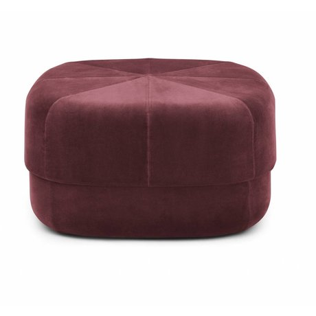 Normann Copenhagen Powder Circus dark red velours large 35x65x65cm