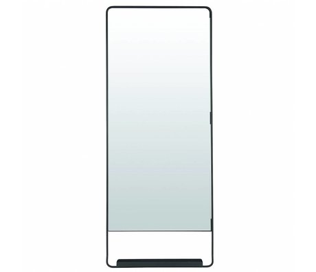 Housedoctor Chiq mirror with shelf black metal 45x110cm