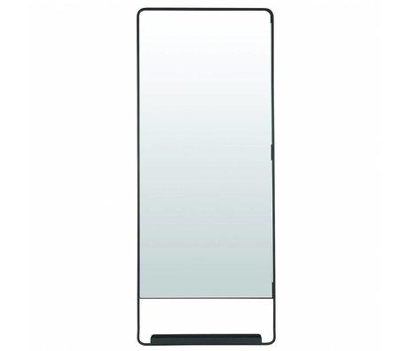 Housedoctor Miroir avec étagère Chiq 45x110cm en métal noir