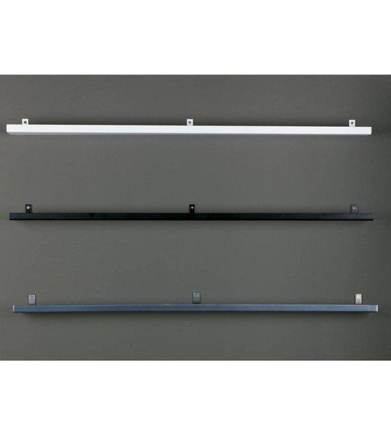 Vtwonen Wandplank.Wandplank Zwart Metaal 120x7 5x2 5cm