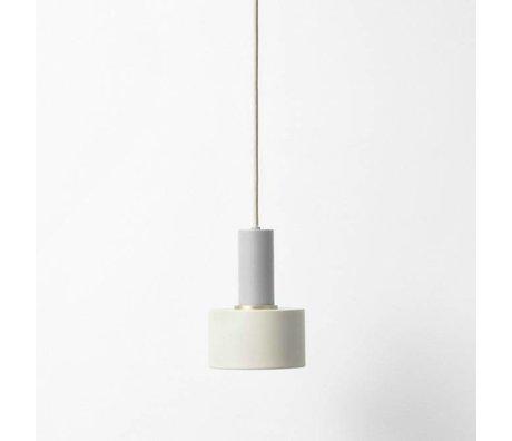 Ferm Living Lampe à suspension disque faible métallique gris clair