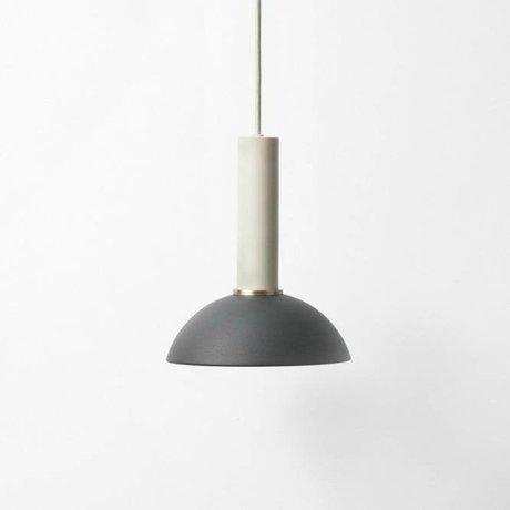 Ferm Living Hanglamp Hoop high zwart licht grijs metaal