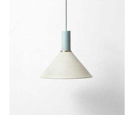 Ferm Living Lampe à suspension Cone faible métallique bleu clair gris poussiéreux