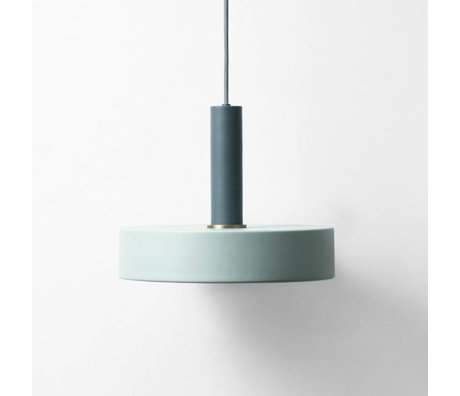 Ferm Living Hanglamp Record high dusty blue dark blue metal