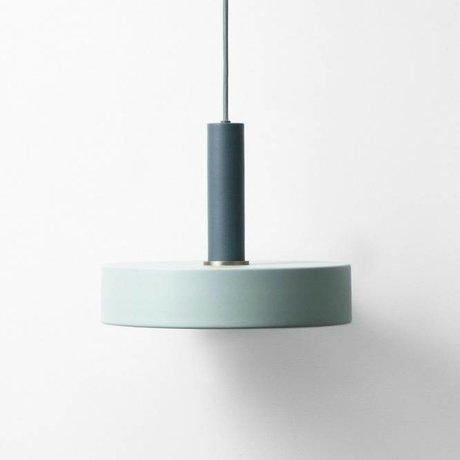Ferm Living Hanglamp record blauw poussiéreux métallique bleu foncé