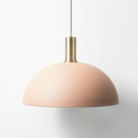 Ferm Living lampe suspendue Dôme bas en laiton rose métal or