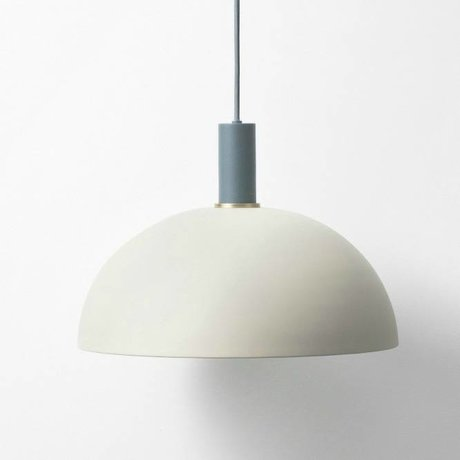Ferm Living Hanglamp Dome low light gray dark blue metal
