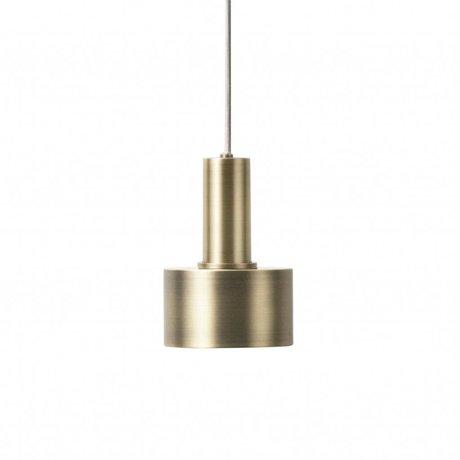 Ferm Living Hanglamp Disc low brass goud metaal