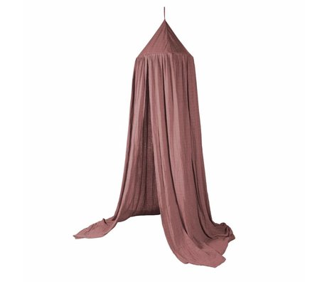 Sebra Sebra mosquito net Midnight Plum pink cotton 240x52cm