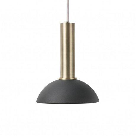 Ferm Living Hanglamp hoop high zwart brass goud metaal