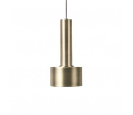 Ferm Living Hanglamp Disc high  brass goud metaal