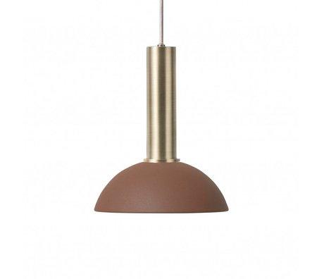 Ferm Living Hanglamp Hoop high rood bruin brass goud metaal