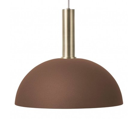 Ferm Living Hanglamp Dome high rood bruin brass goud metaal