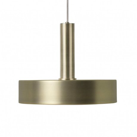 Ferm Living Hanglamp Record high brass goud metaal