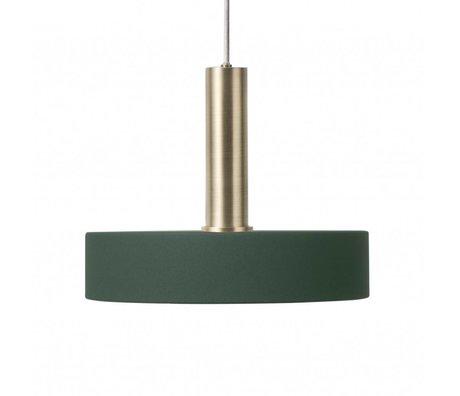 Ferm Living Hanglamp Record high donker groen brass goud metaal
