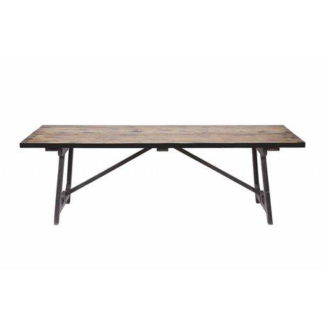 BePureHome Craft Tisch braun schwarz Holz 76x190x90cm