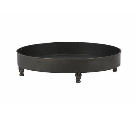 BePureHome Dienblad Curve zwart metaal 10,5x46x46cm