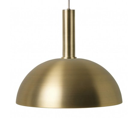 Ferm Living Hanglamp Dome high brass goud metaal