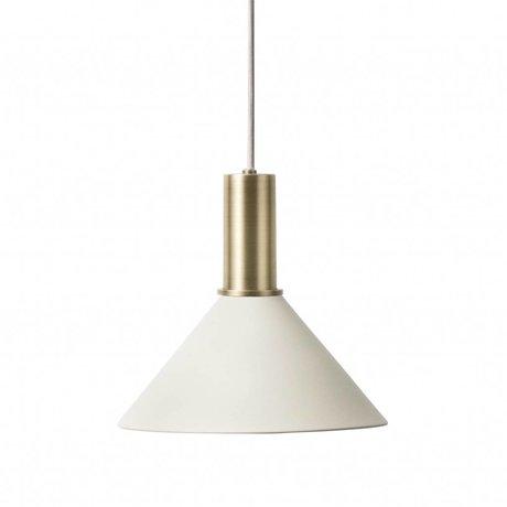 Ferm Living Hanglamp Cone low licht grijs brass goud metaal