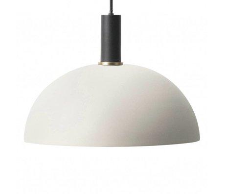 Ferm Living Hanglamp Dome low licht grijs zwart metaal